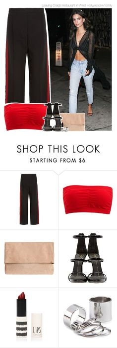 """""""Leaving Craig's restaurant in West Hollywood w/ Emily"""" by amberamelia-123 ❤ liked on Polyvore featuring Alexander McQueen, Charlotte Russe, Giuseppe Zanotti and Topshop"""