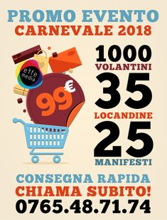 Carnevale 2018, 5 proposte di grafica.