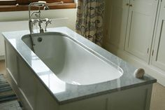 Beautiful marble bathtop in one peice. Carrara marble from Italy