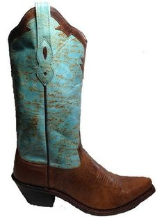 Women's Cowboy Boots- Turqouise, from The Leopard House  <3<3<3  Leopard House is the former designer behind My Vintage Baby and Vintage Couture.  And she's a Texan! <3