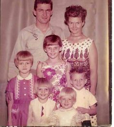 Dale Yeager(top right) Betty Hanson/Yeager  Kay Yeager/ Widmam (middle)  Dale (imp) Yeager /Yaw  (left middle) Roy Yeager (right middle) Alberta Yeager (left front) Lisa Yeager/Erinbrock