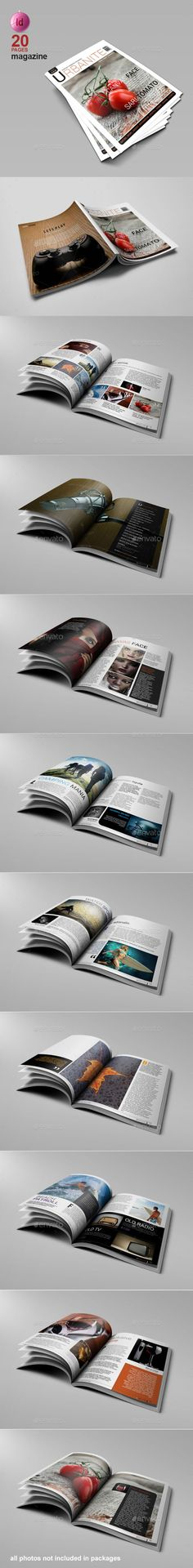 A4 Magazine #Template - #Magazines Print Templates Download here: https://graphicriver.net/item/a4-magazine-template/8875464?ref=alena994