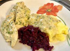 Piersi z kurczaka w sosie śmietanowo-porowym | FlyB Kulinaria Vegan Ramen, Ramen Noodles, Risotto, Mashed Potatoes, Food And Drink, Chicken, Meat, Ethnic Recipes, Diners