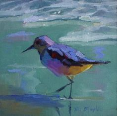 impressionist bird paintings | ... Paintings By Elizabeth Blaylock, American Impressionist: Beach Bird