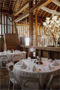 chic barn wedding reception @weddingchicks-rustic fall wedding at The Farmhouse Weddings