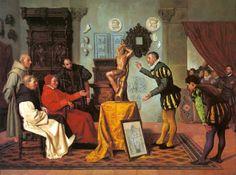 Jadraque Miguel (1840-1919) Visita del Cardenal Tavera al célebre Alonso Berruguete