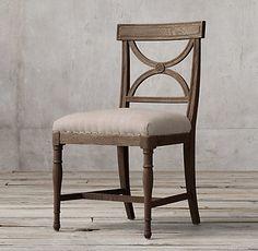 Gustavian X-Back Fabric Dining Chair   RH