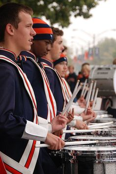 Marchining Illini drums...lol I walk to the beat of their drumming almost every afternoon