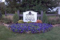 Entry Monument Sign  Kirkpatrick Management  Sutton Crossing  Fishers, IN