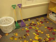 dramatic play - Fall leaf raking!