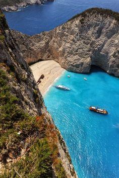 Navagio (shipwreck) beach, Zakinthos, Greece