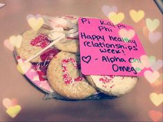 Healthy relationships week- cookies. Idea for sorority inclusion?