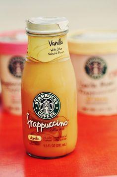 Starbucks Vanilla Frappuccino's...yum!