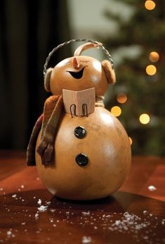 Image result for gourd snowman
