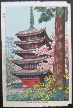 1951 - Takeji Asano - Spring in Daigoji Temple