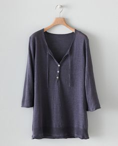 Fine knit linen tunic by Poetry