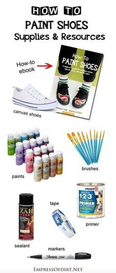 How to Paint Shoes: A beginner's guide to creating custom canvas shoes with acrylic paint. Here's a list of all of the supplies we recommend for best results. If you're interested in customizing shoes with fan-art or your own unique designs, this is a goo