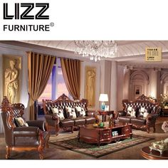 China Chesterfield Sofa Set Living Room Royal Furniture Antique Style Sofa Loveseat Armhair Luxury Furniture For Home Sofas