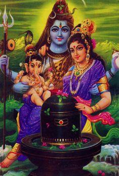 "The Hindu Trinity. Shiv (Shiva) :: The third member of the Hindu trinity representing godhead in its aspect of annihilator, in charge of the ""constructor–destructor"" in the. Ganesha Art, Krishna Art, Lord Ganesha, Shiva Hindu, Hindu Art, Portal, Blue Butterfly Wallpaper, Shiva Shankar, Southeast Asian Arts"