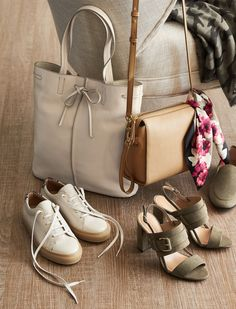 Ready for a mid-summer wardrobe refresh? Accessories are a simple (and super-fun!) was to get this done. We love shoes and bags in neutrals plus a pretty pop of pink. Whether you go for elegant sandals, sneakers, a tote that keeps your phone charged, a sleek leather crossbody, or a pretty scarf (or maybe one of each?), your wardrobe will be ready for the rest of summer and the beginning of fall.