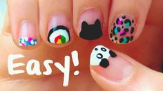 Diy Nail Designs Diy Easy Nail Art Designs For Short Nails Beginners No With Scotch Tape Finger % Nail Art Diy, Easy Nail Art, Cool Nail Art, Diy Nails, Cute Nails, Manicure, Pretty Nail Designs, Simple Nail Art Designs, Short Nail Designs