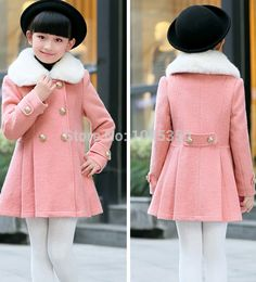 Cheap Súper ventas 2015 nuevo invierno ropa chaqueta niñas niños vestido de  lana doble botonadura abrigo b41f4a6f7e67