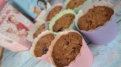 Meggyes, zabpehelylisztes muffin