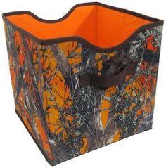 Hunter Orange and Camo Storage Bin