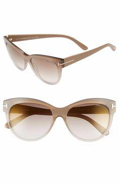 1c8c0104832ec Main Image - Tom Ford  Lily  56mm Cat Eye Sunglasses  JimmyChoo Zapatos Tom