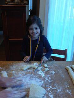 Catherine making Gnocchi