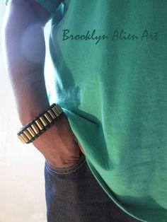 Bold Paracord Bullet Shell Bracelet One of a by BrooklynAlienArt