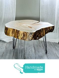 Live-Edge Wood-Slice Coffee Table, Side or End Table from Patrick Cain Designs https://www.amazon.com/dp/B018OK7G4A/ref=hnd_sw_r_pi_dp_gXMwwbB25TCJV #handmadeatamazon