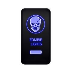 MICTUNING 12V Push Switch Kit Laser SKULL ZOMBIE LIGHTS Blue ON-OFF Switch for TOYOTA