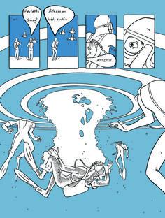 """Tavola di Giulia D'Agostini realizzata per la mostra """"I primi dieci"""" che festeggia il decennale del corso di fumetto con le opere di giovani diplomati."""
