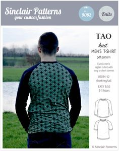 PDF Sewing Patterns Sinclair Patterns Tao semi fitted classic raglan t-shirt for men (PDF) Classic Man, Sport T Shirt, Pdf Sewing Patterns, Tshirts Online, Tao, Men's Fashion, Short Sleeves, Knitting, Fitness