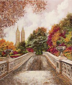 Central Park, New York Central, Landscape Art, Landscape Paintings, Art Paintings, Landscapes, Park Art, Yorkie, Art Pictures