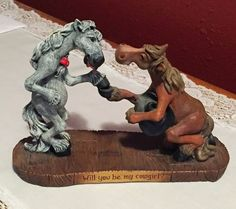 Retired-034-Will-You-Be-My-Cowgirl-034-Montana-Silversmith-Elmer-Figurine-Rare