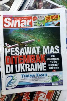Newspapers Mh17