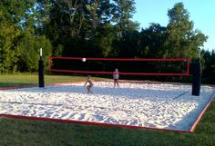 I love this site for one stop shopping for a complete Volleyball court set up : BEST BACKYARD EVER.