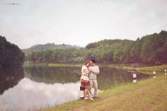 classic and whimsical pre wedding or engagement photography from Pang Ung reservoir, Mae Hong Son, Thailand