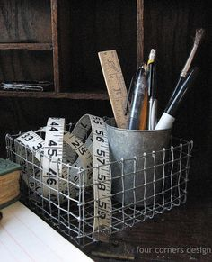 four corners design: Wonderfully wired... make your own wire basket