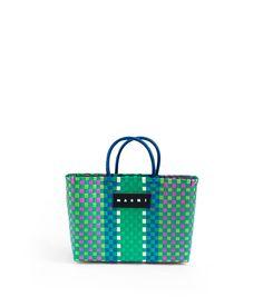 マルニ、バスケットバッグの限定店を東京・大阪に出店   Fashionsnap.com Plastic Baskets, Store Interiors, Trendy Handbags, Working Woman, Knitted Bags, Marni, Mini Bag, Charity, Weaving