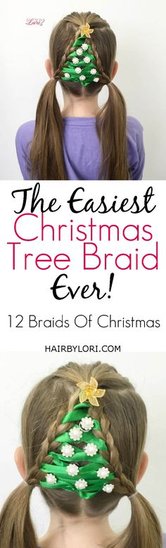 Video Tutorial: The Easiest Christmas Tree Braid Ever The Easiest Christmas Tree Braid Ever # Braids for girls dr. who # Braids for girls dr. who # Braids for girls dr. Hairstyles For School Boy, Little Girl Hairstyles, Cool Hairstyles, Wacky Hair Days, Crazy Hair Days, Simple Christmas, Christmas Tree, Christmas Nails, Christmas 2017