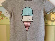 camiseta para bebê estampa sorvete @mateuseospiratas