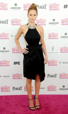 Jennifer Lawrence at the Independent Spirit Awards: This is how you DO a LBD! Jennifer Lawrence turns up the heat in this backless Lanvin creation - hot, hot, hot!
