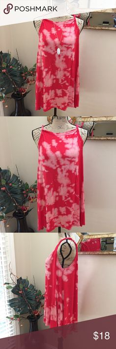 "🌹Acemi tie dye skater dress with braided straps. 🌹Acemi (Dillard's) midi tie dye skater dress with braided straps. This is a super cute tee and blush BOHO tie dye dress. It has braided shoulders. Both have been taken in-great for a shorter person (I am 5'3""). This does show slightly but is not obvious while wearing. Preloved in good condition. Pit to pit measurement is 22"". Length is 31"". Great flare!! Acemi Dresses Midi"