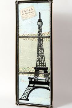 DIY Craft Painting - Eiffel Tower Window Art using Gallery Glass