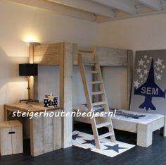 Voor de nieuwe peuter & baby kamer  later bed steigerhout Door ...