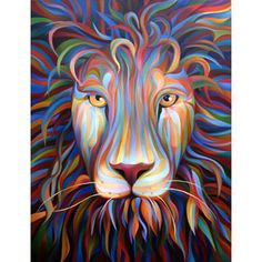 Red Lion, Oil on Canvas, x 2007 by Kate Hoyer Dog Paintings, Paintings I Love, Lion Spirit Animal, Colorful Animal Paintings, Rainbow Lion, Dog Pop Art, Lion Art, Jackson, Baby Art