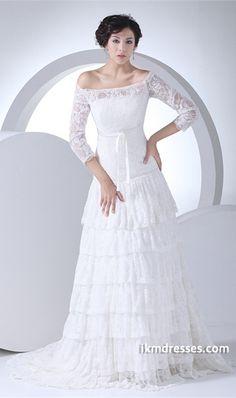 http://www.ikmdresses.com/A-Line-Zipper-back-3-4-Length-Sleeve-Wedding-Dress-p20085